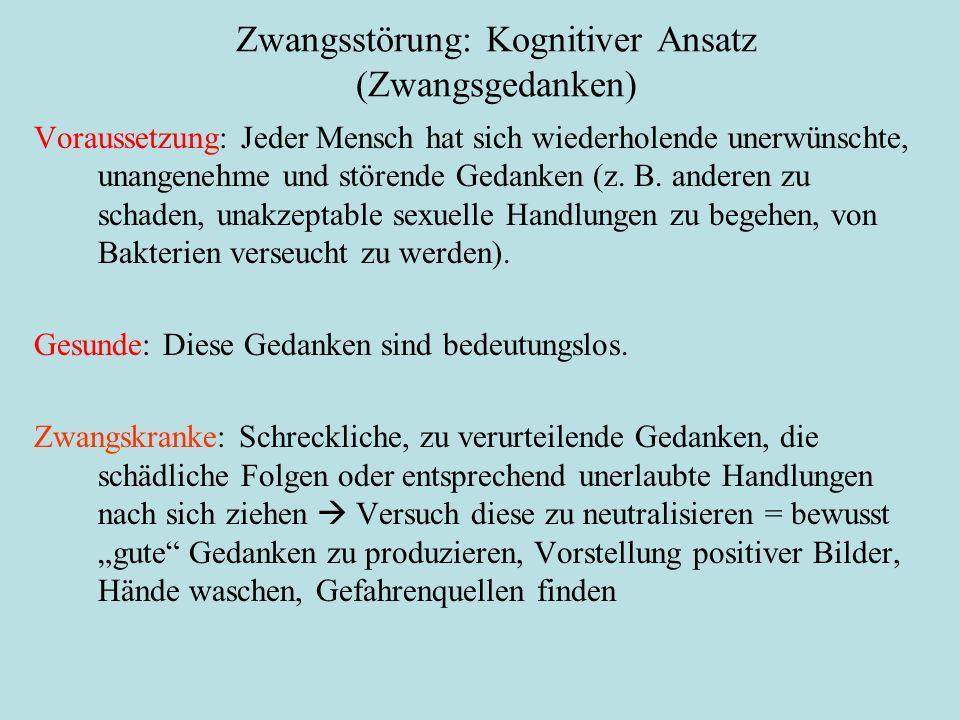 Zwangsstörung: Kognitiver Ansatz (Zwangsgedanken)