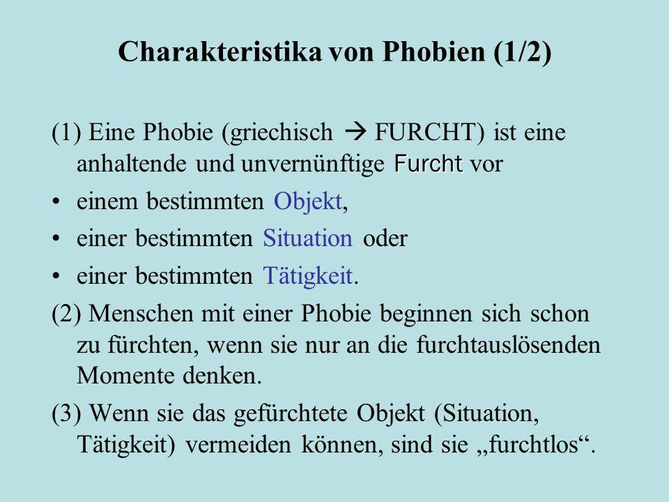 Charakteristika von Phobien (1/2)