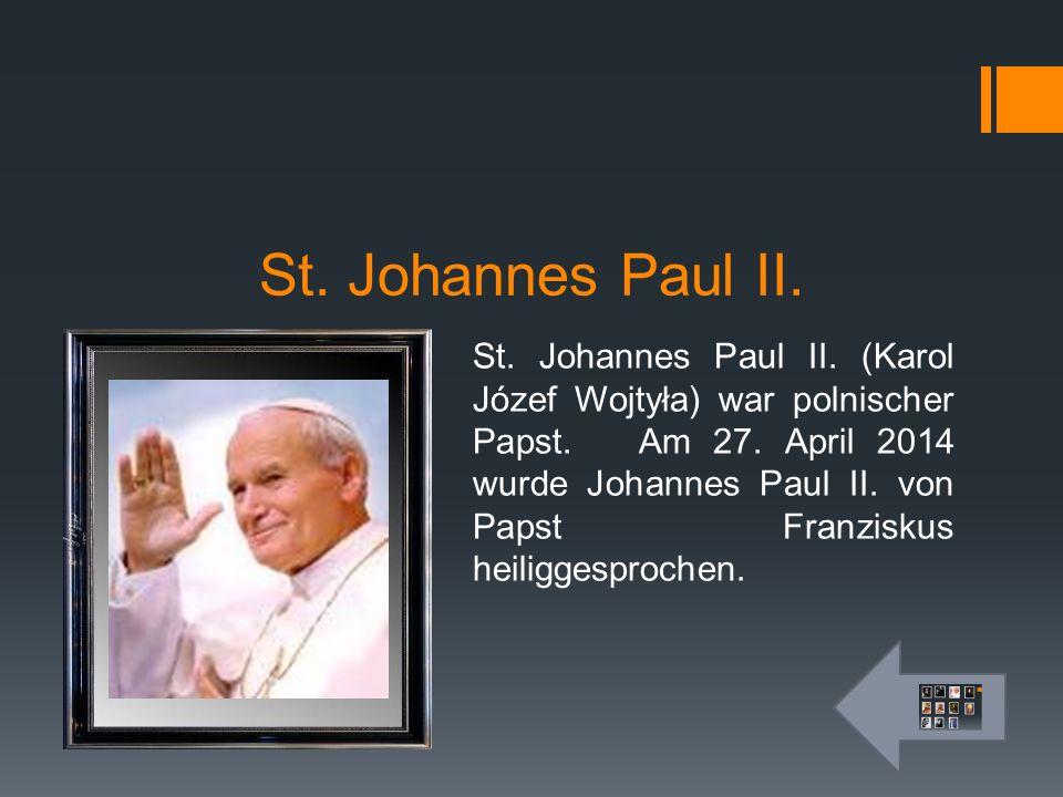 St. Johannes Paul II.