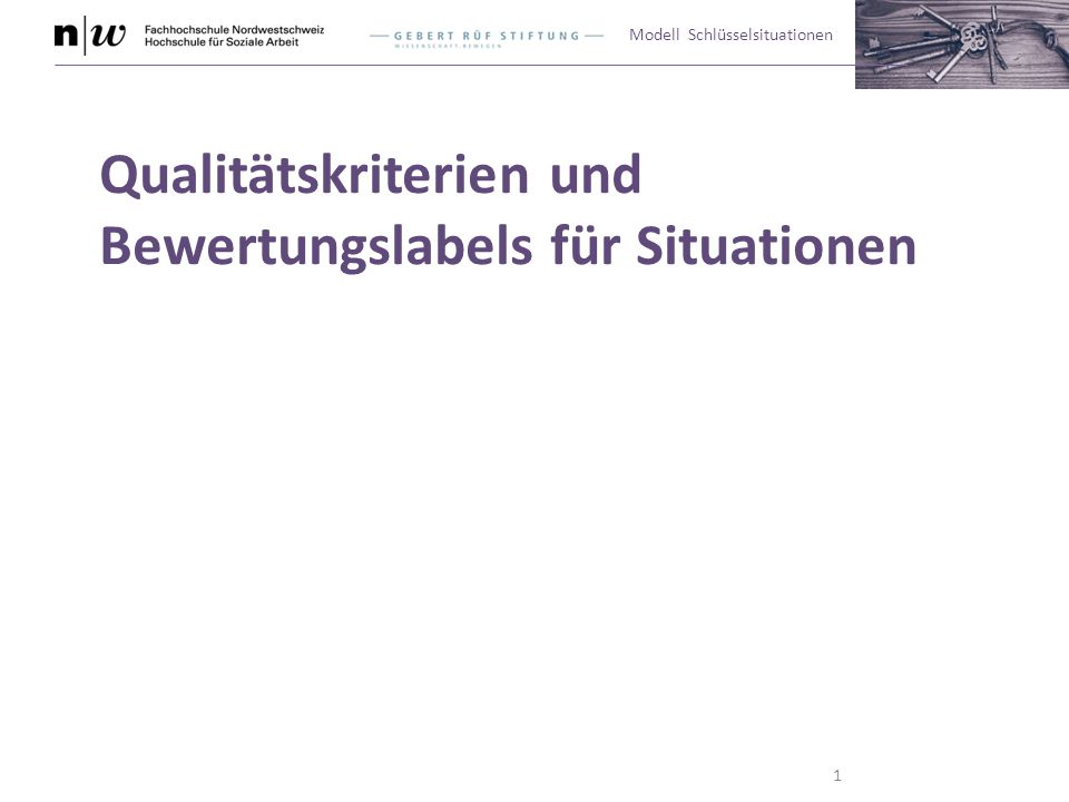 Qualitätskriterien und Bewertungslabels für Situationen
