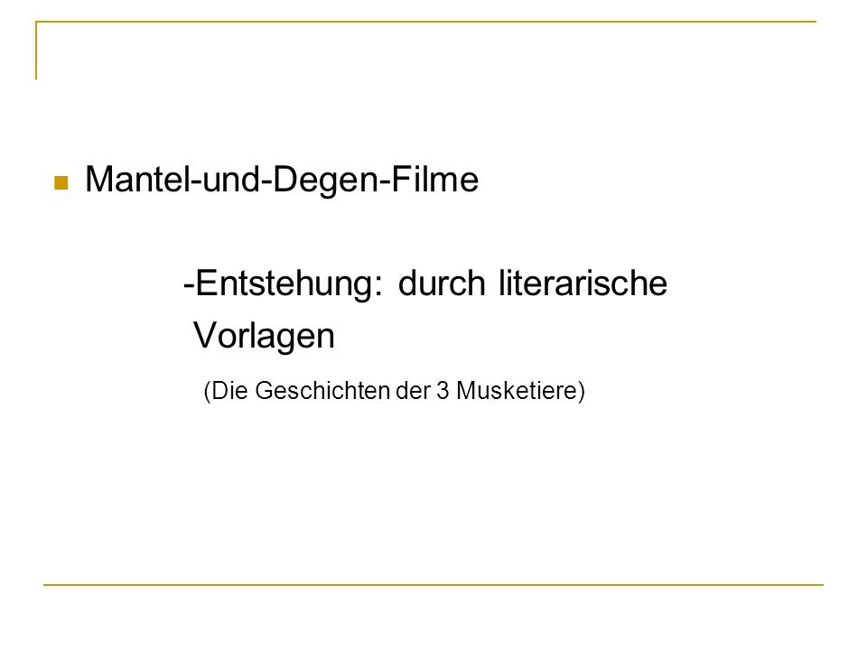 Mantel-und-Degen-Filme