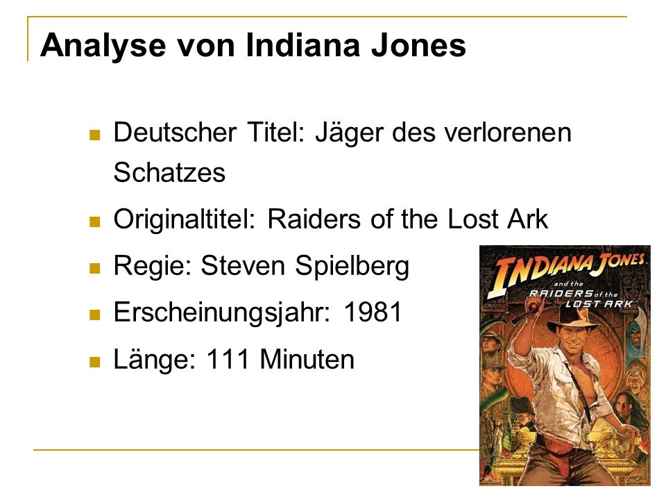 Analyse von Indiana Jones