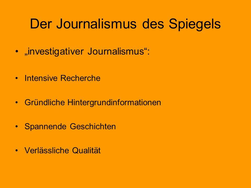 Der Journalismus des Spiegels