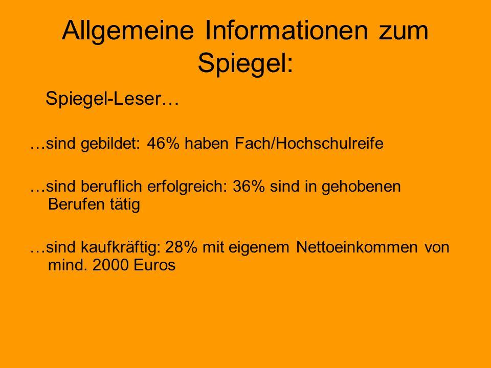 Allgemeine Informationen zum Spiegel: