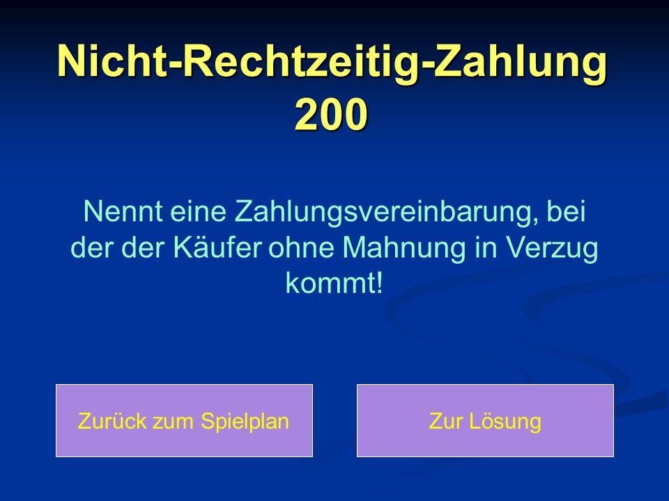 Nicht-Rechtzeitig-Zahlung 200