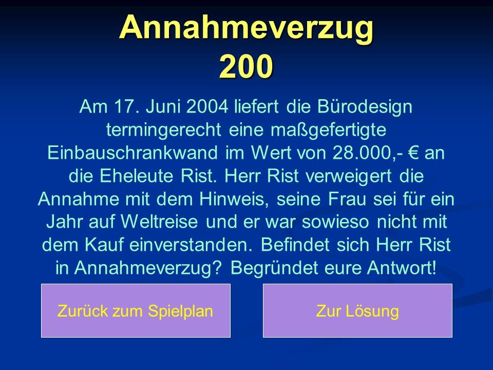 Annahmeverzug 200