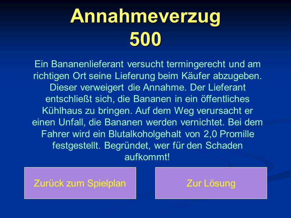 Annahmeverzug 500