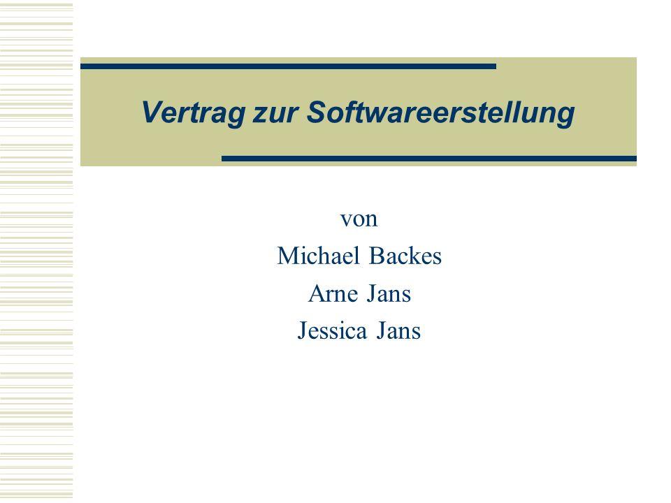 Vertrag zur Softwareerstellung