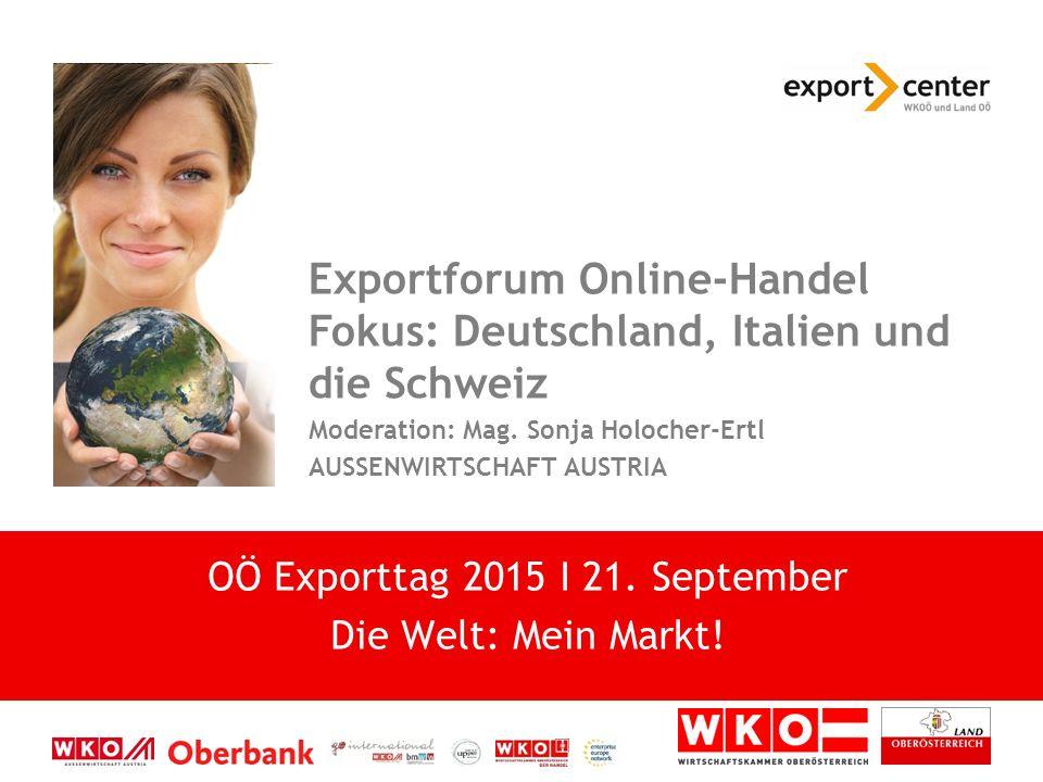 Exportforum Online-Handel Fokus: Deutschland, Italien und die Schweiz