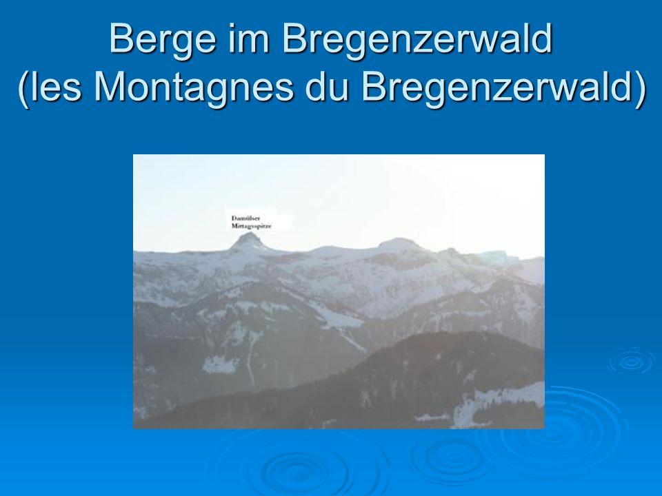 Berge im Bregenzerwald (les Montagnes du Bregenzerwald)