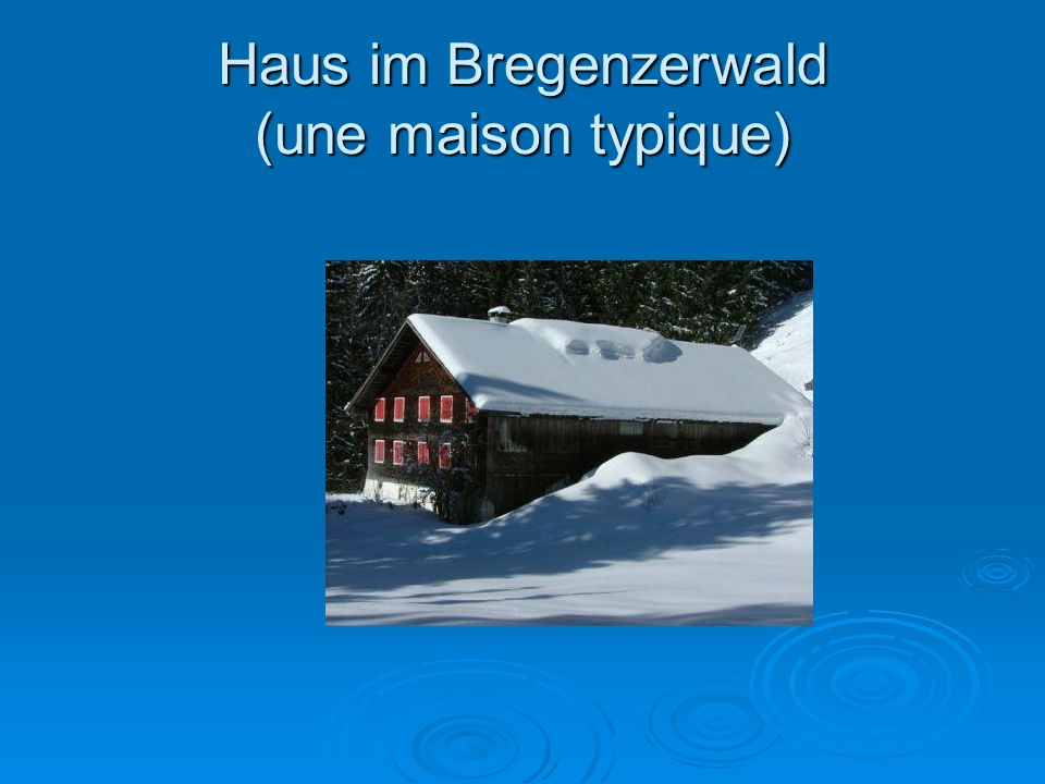 Haus im Bregenzerwald (une maison typique)