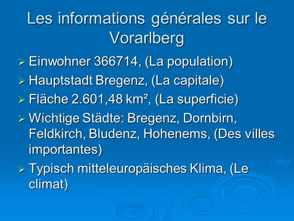 Les informations générales sur le Vorarlberg
