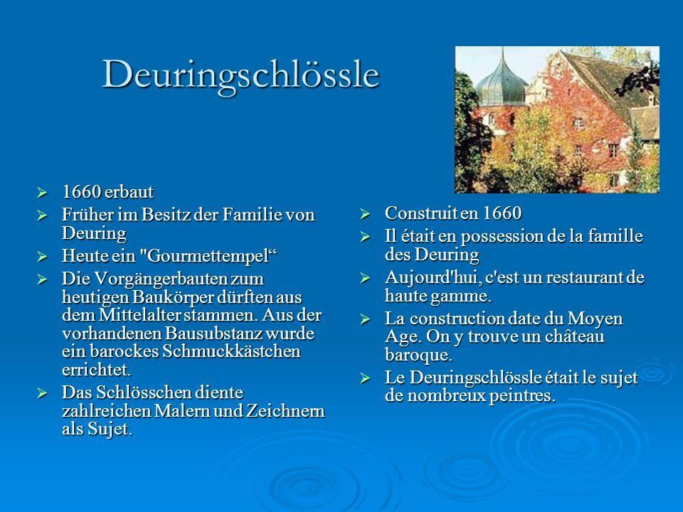 Deuringschlössle 1660 erbaut Früher im Besitz der Familie von Deuring