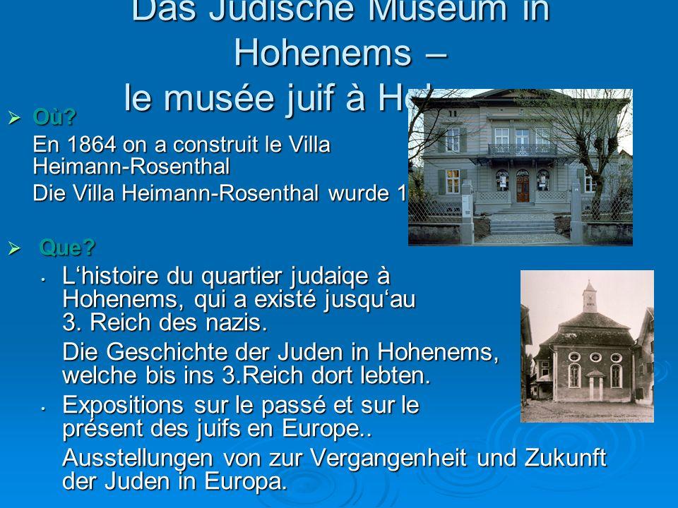 Das Jüdische Museum in Hohenems – le musée juif à Hohenems