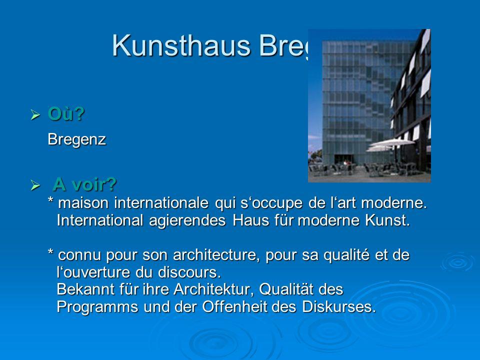 Kunsthaus Bregenz Où Bregenz