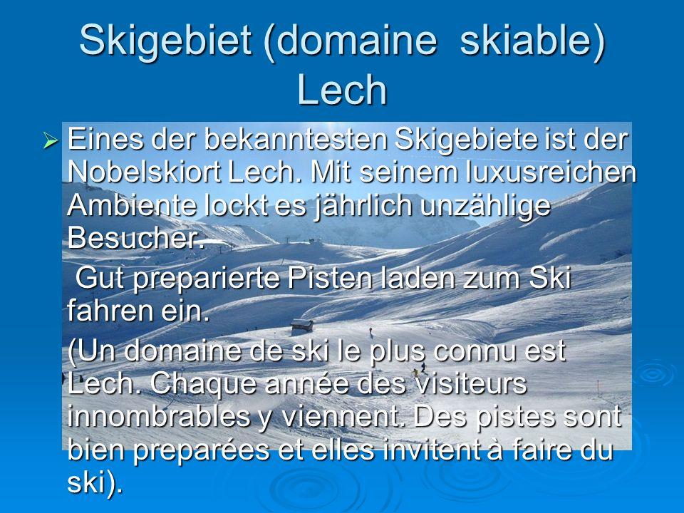 Skigebiet (domaine skiable) Lech