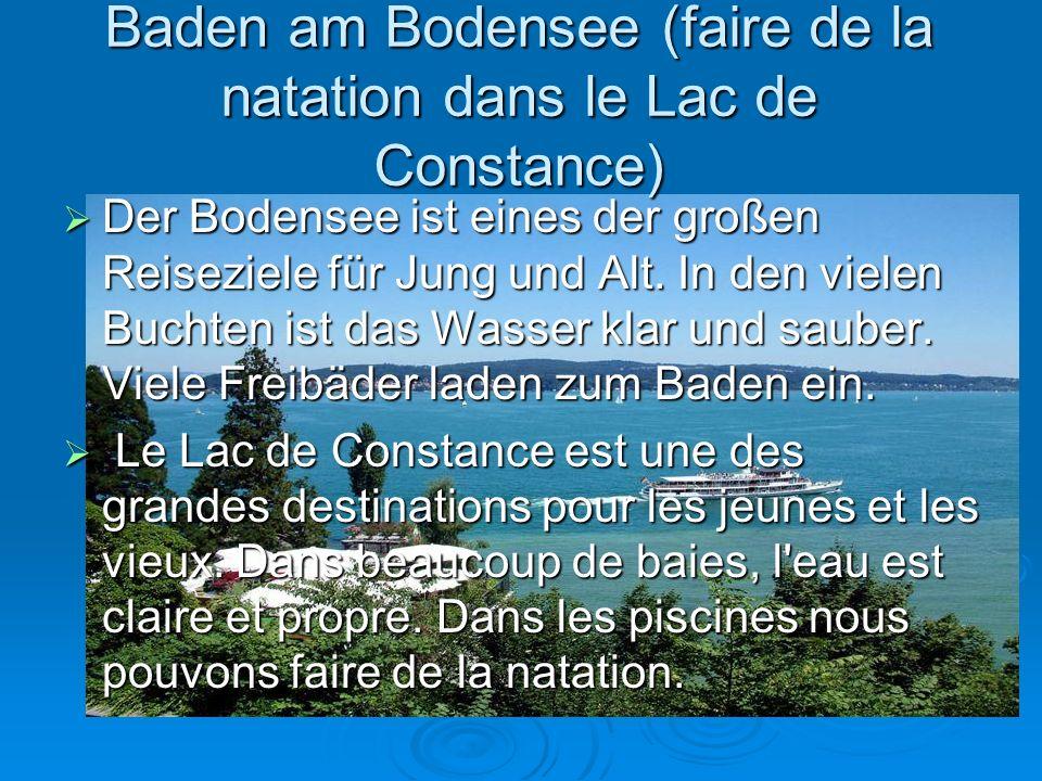 Baden am Bodensee (faire de la natation dans le Lac de Constance)
