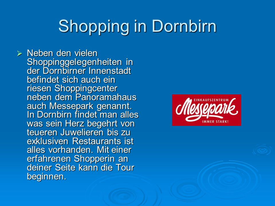 Shopping in Dornbirn