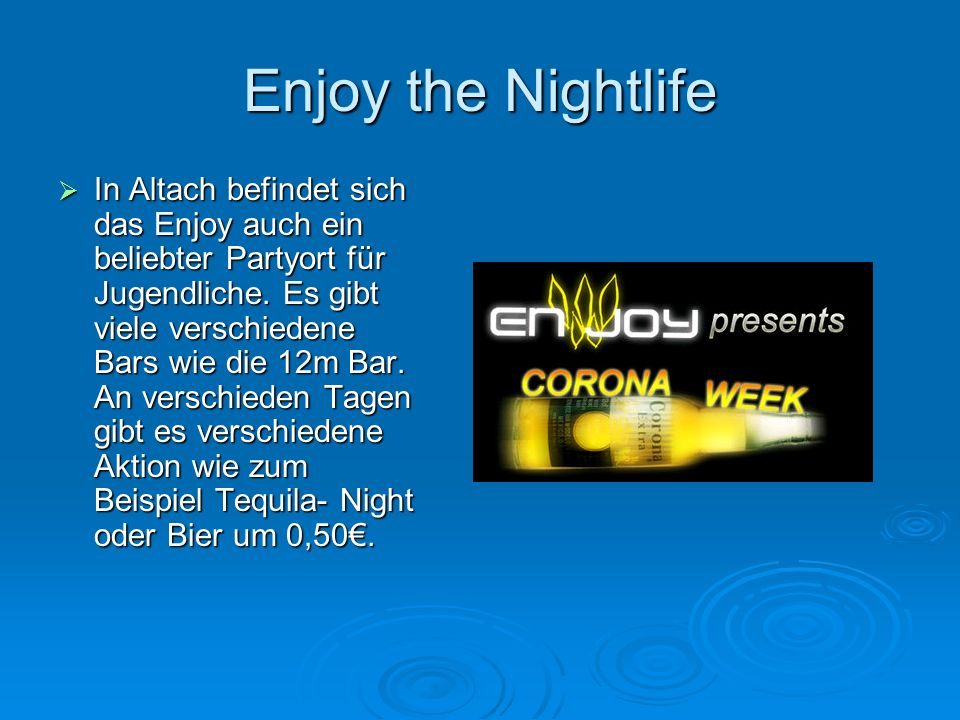 Enjoy the Nightlife
