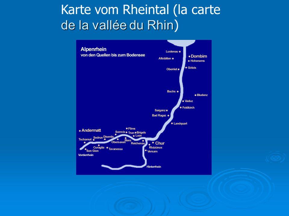 Karte vom Rheintal (la carte de la vallée du Rhin)
