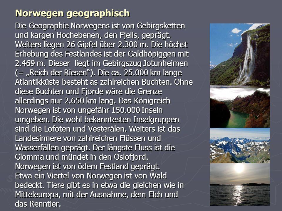 Norwegen geographisch