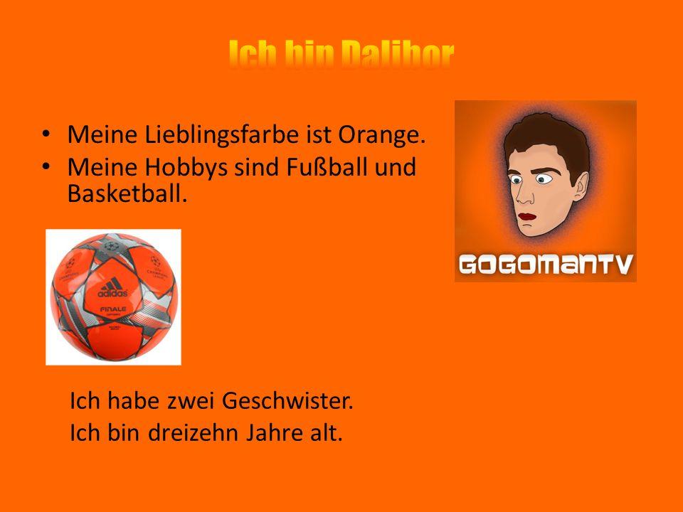Ich bin Dalibor Meine Lieblingsfarbe ist Orange.