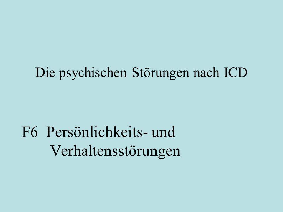 Die psychischen Störungen nach ICD