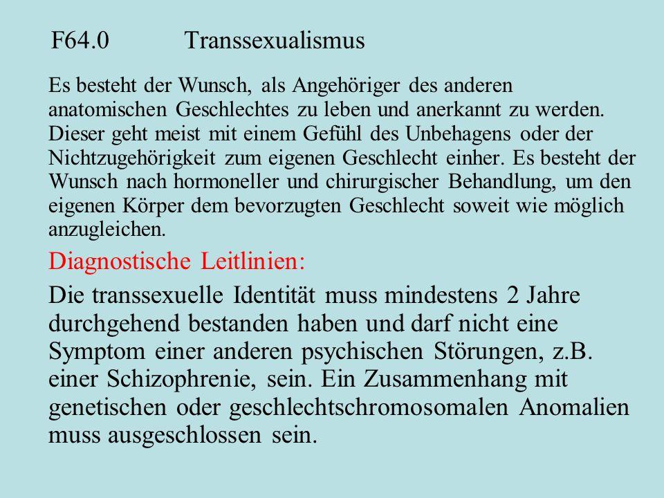 F64.0 Transsexualismus