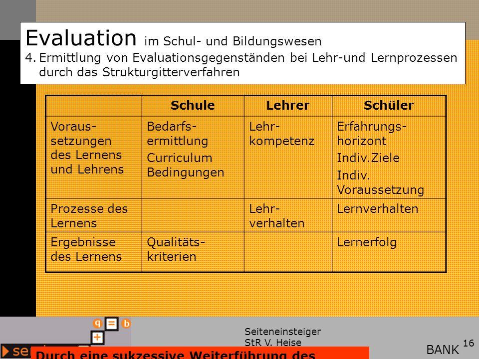 Evaluation im Schul- und Bildungswesen 4.