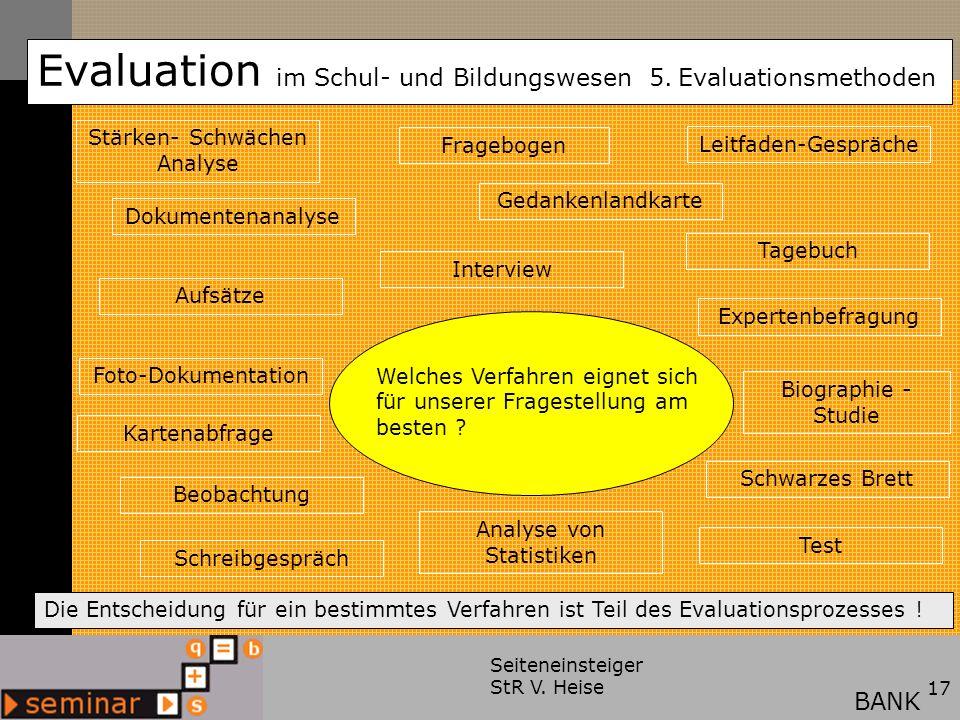 Evaluation im Schul- und Bildungswesen 5.