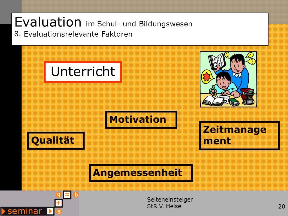 Evaluation im Schul- und Bildungswesen 8.