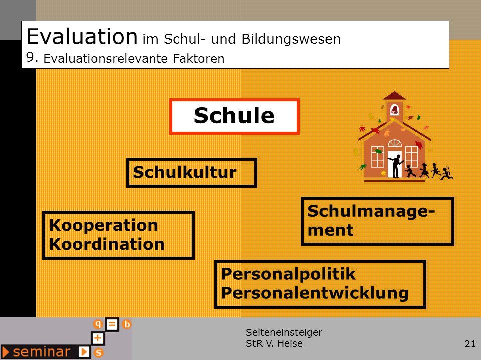 Evaluation im Schul- und Bildungswesen 9.