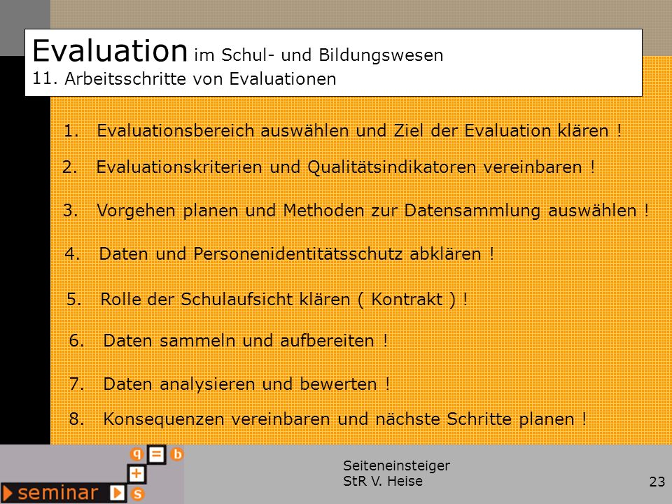 Evaluation im Schul- und Bildungswesen 11.