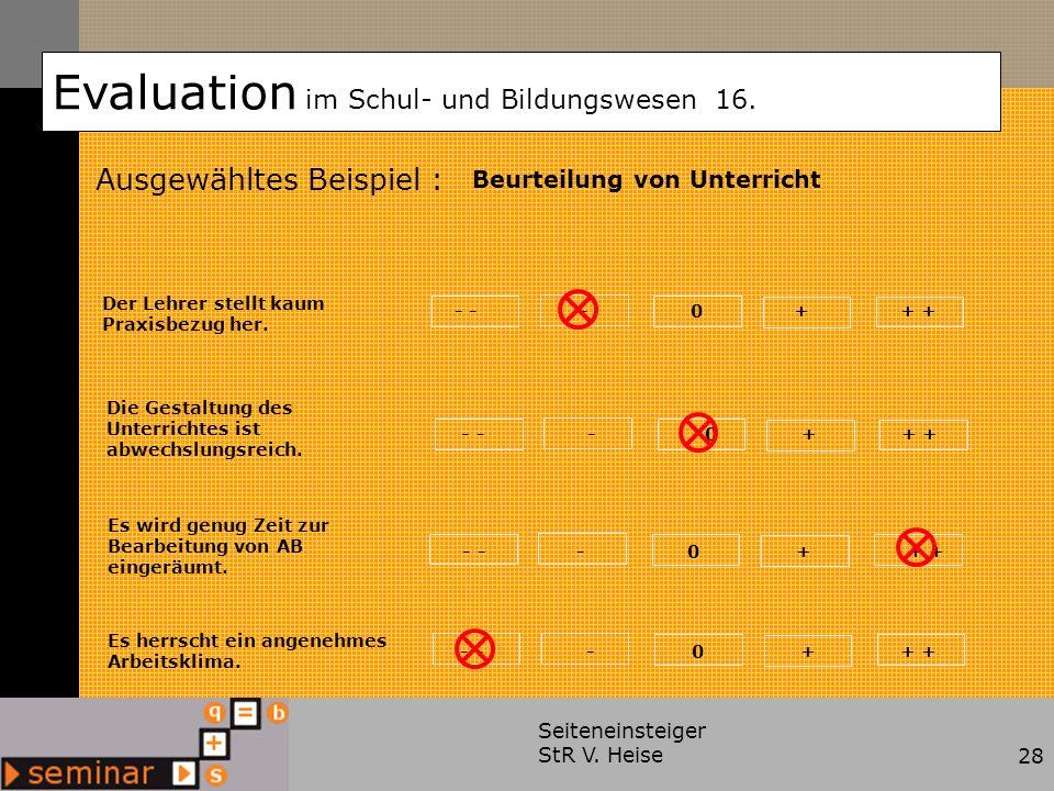 Evaluation im Schul- und Bildungswesen 16.