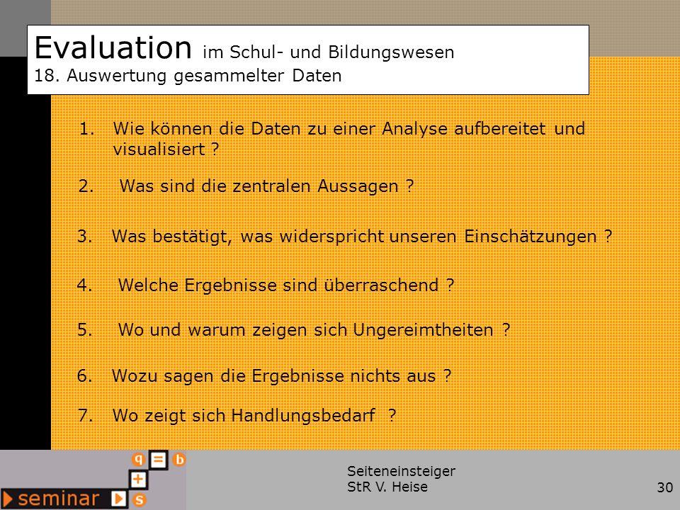 Evaluation im Schul- und Bildungswesen 18.