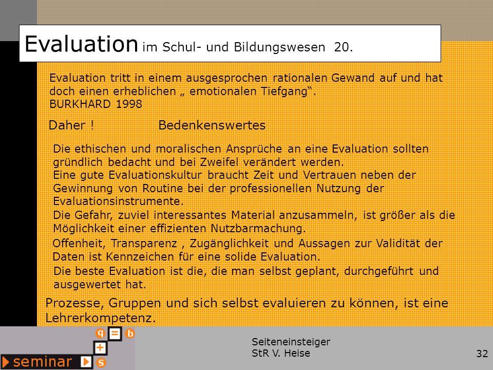Evaluation im Schul- und Bildungswesen 20.