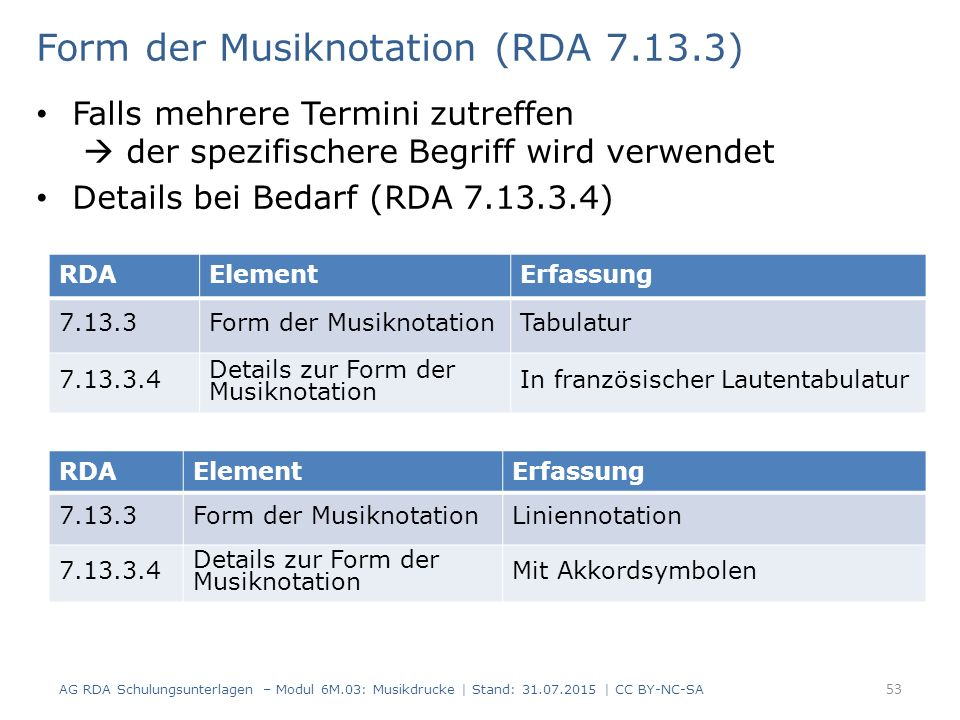 Form der Musiknotation (RDA 7.13.3)