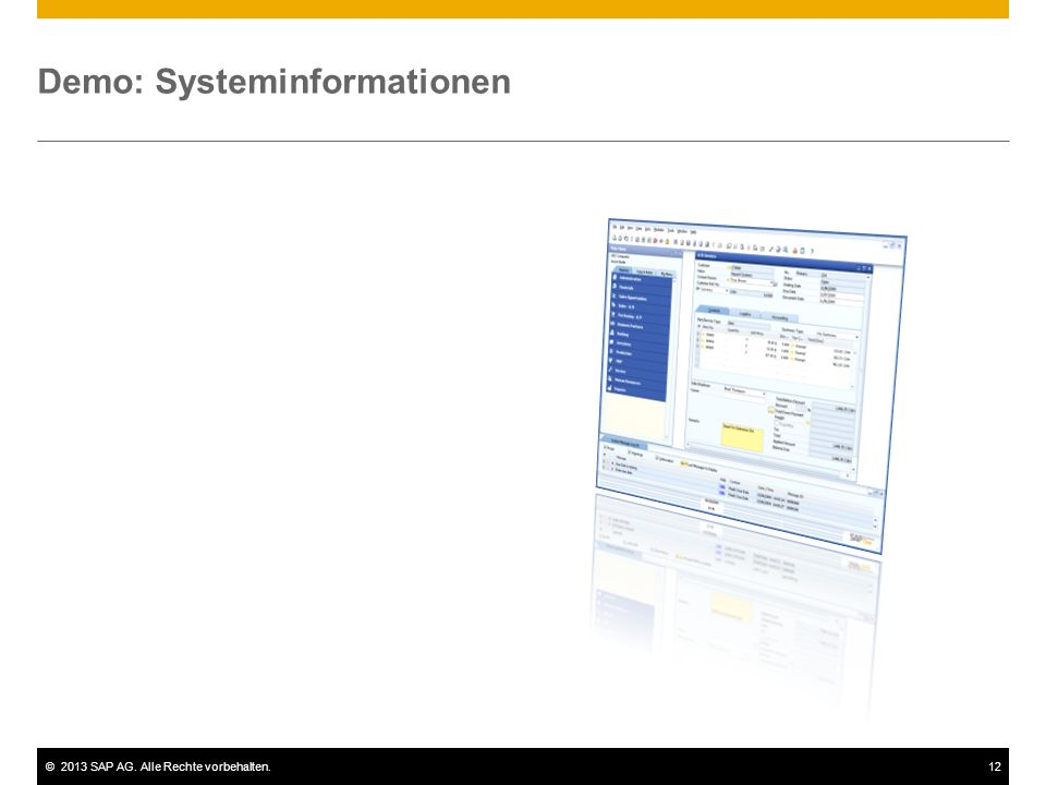Demo: Systeminformationen