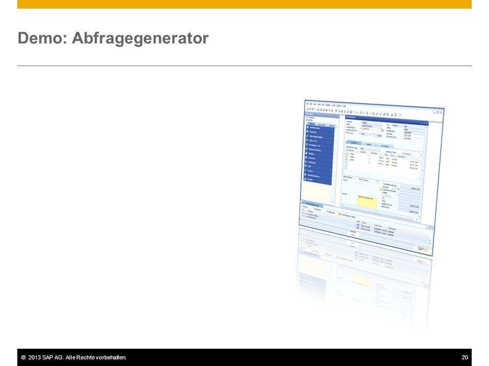 Demo: Abfragegenerator