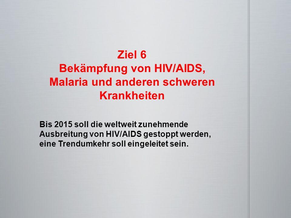 Bekämpfung von HIV/AIDS, Malaria und anderen schweren Krankheiten