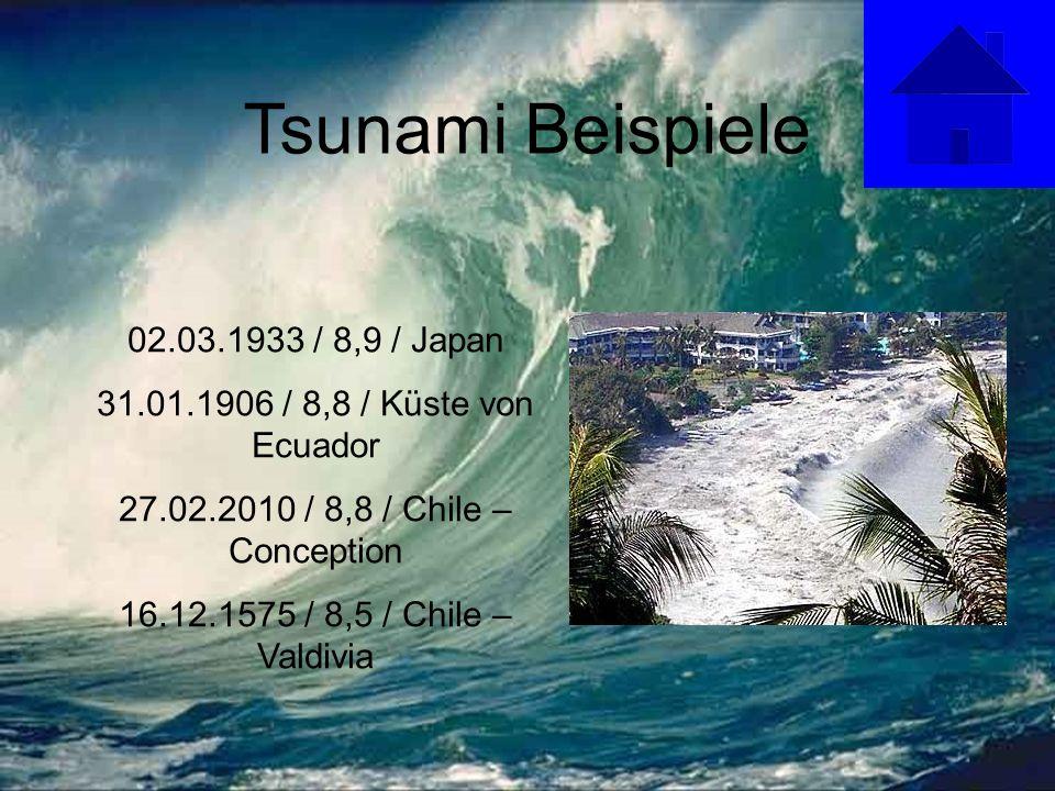 Tsunami Beispiele 02.03.1933 / 8,9 / Japan