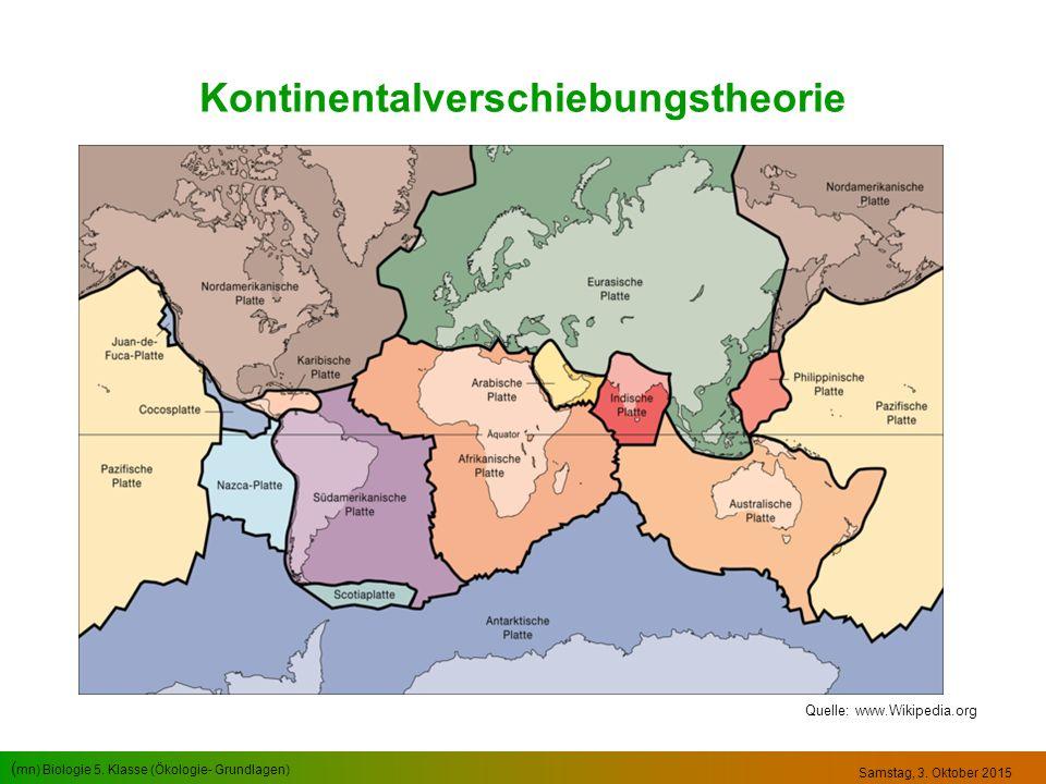 Kontinentalverschiebungstheorie