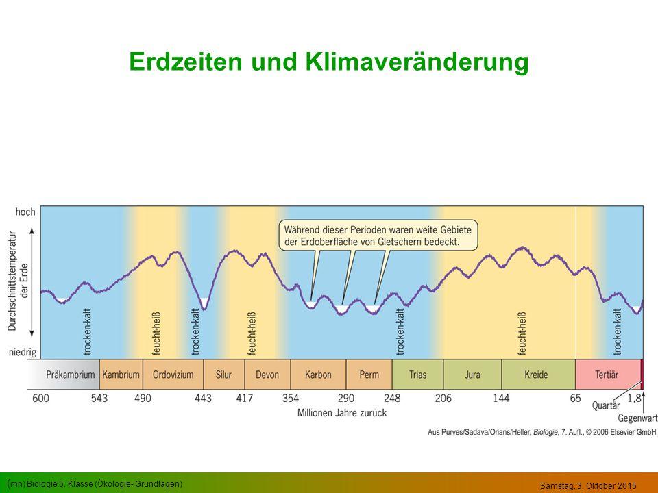 Erdzeiten und Klimaveränderung