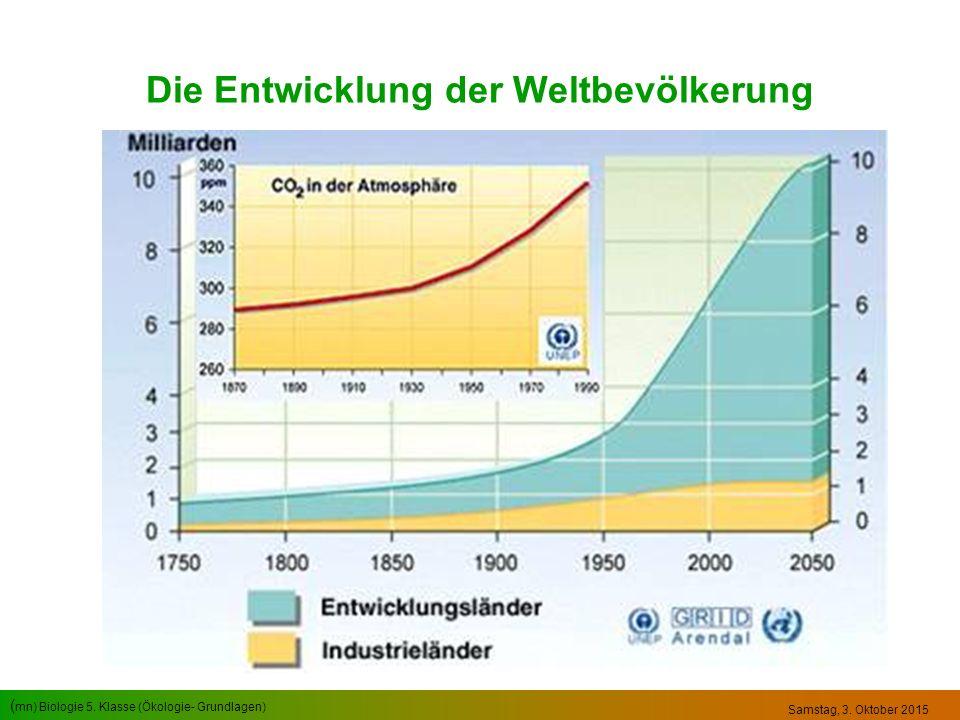 Die Entwicklung der Weltbevölkerung