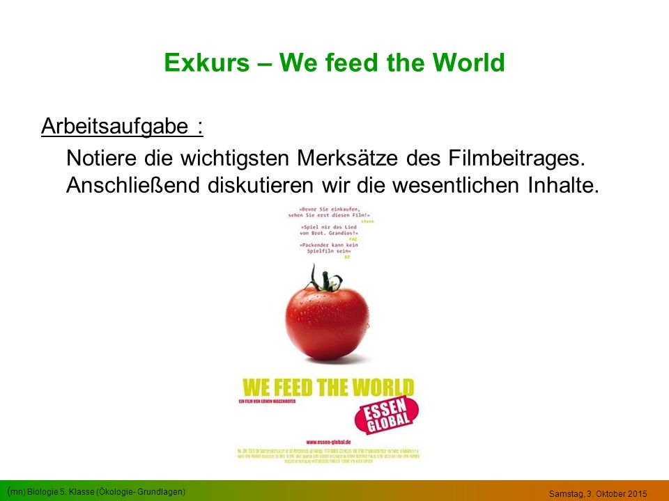 Exkurs – We feed the World