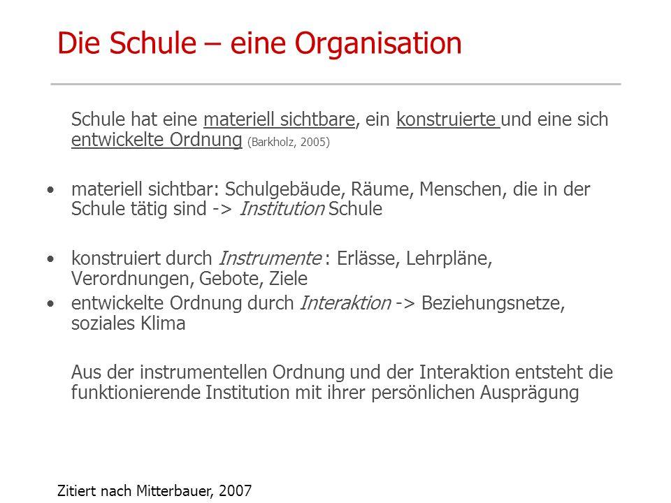 Die Schule – eine Organisation