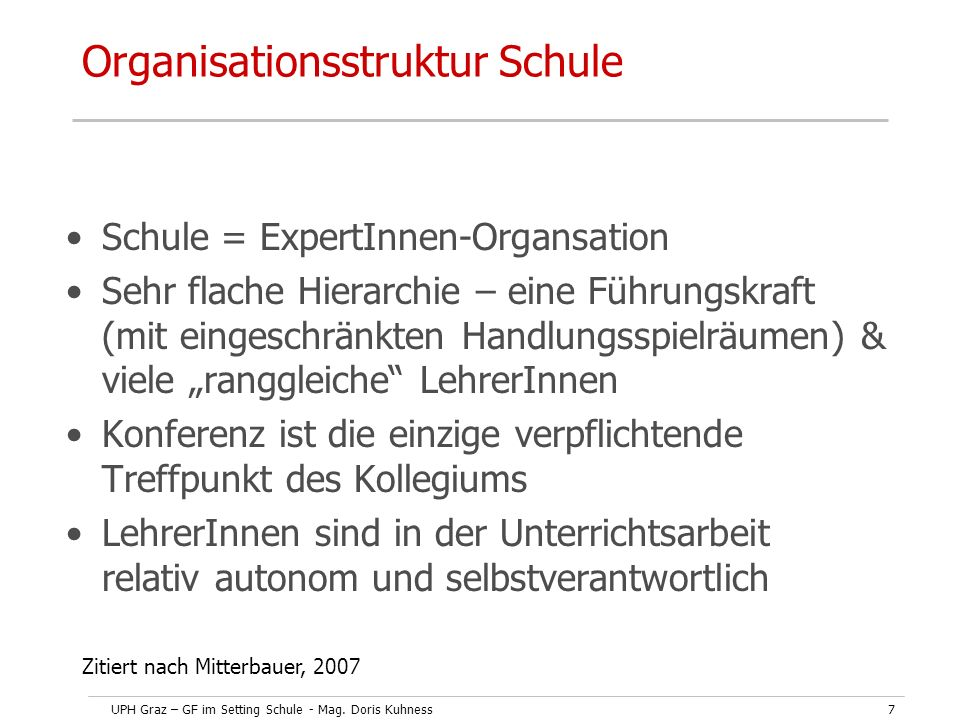 Organisationsstruktur Schule