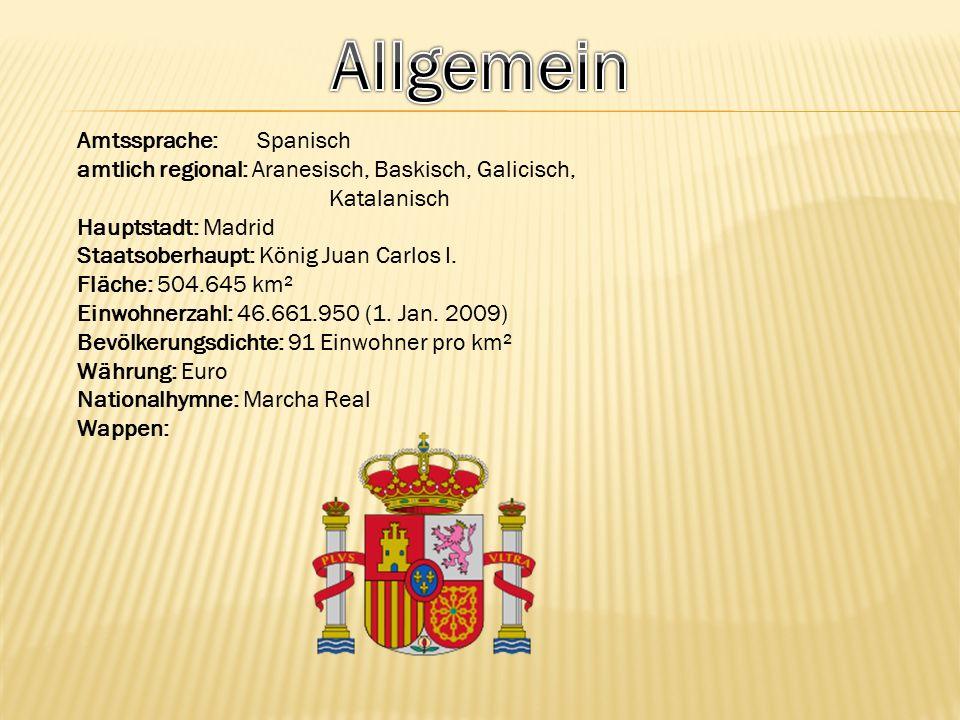 Allgemein Amtssprache: Spanisch