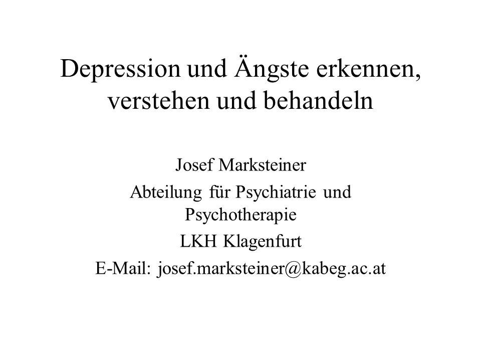 Depression und Ängste erkennen, verstehen und behandeln