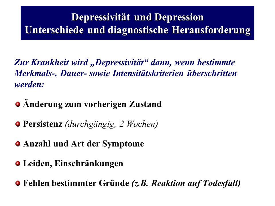 Depressivität und Depression Unterschiede und diagnostische Herausforderung
